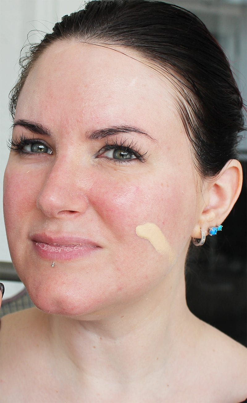 Too Faced Born This Way Foundation in Snow swatch