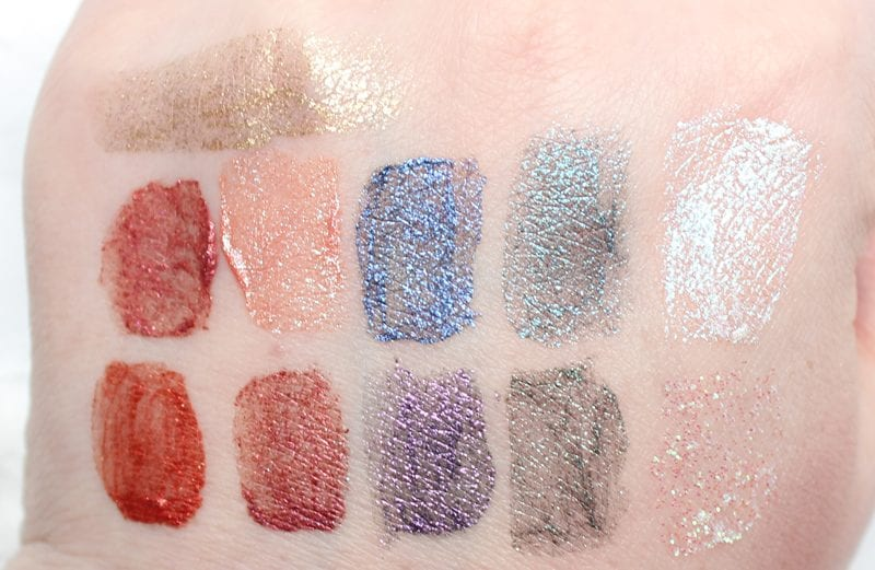 Urban Decay Vice Special Effects Lipstick Topcoat Swatches on fair skin
