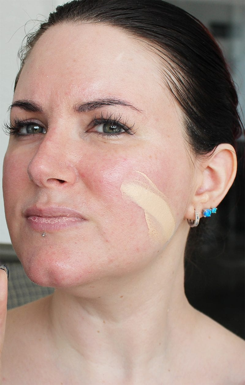 Urban Decay All Nighter Foundation in 1.0 swatch
