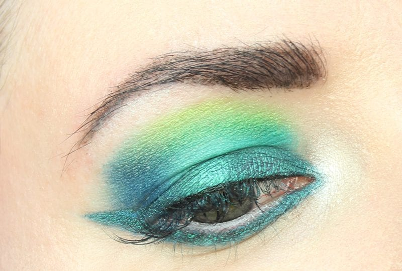 Wearing Darling Girl Mermaid Magic and UD Basquiat Tenant Palette