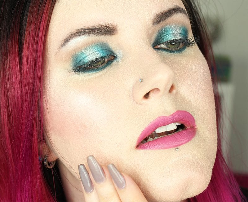 Wearing Makeup Geek Peacock, Poolside, Kaleidoscope and Bandwagon