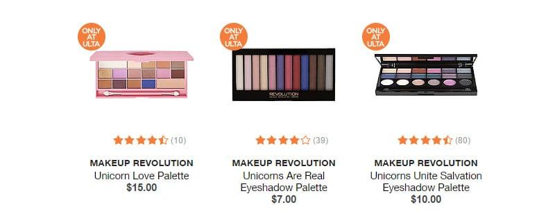 Makeup Revolution Unicorn Palettes