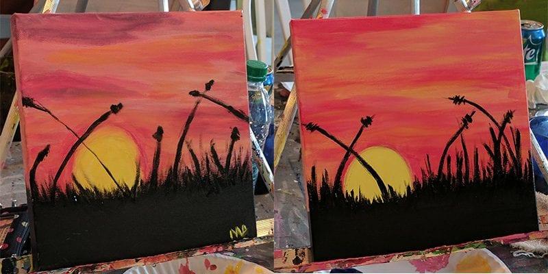 Meghann and Katie's paintings