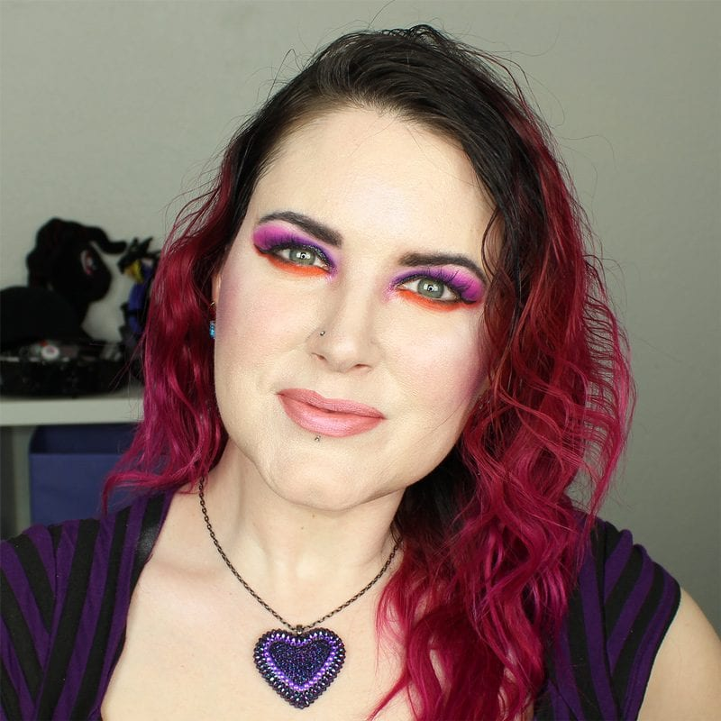 Wearing Urban Decay Bittersweet and Score blush draped, plus Saucebox Festival Love and Makeup Geek Celestial