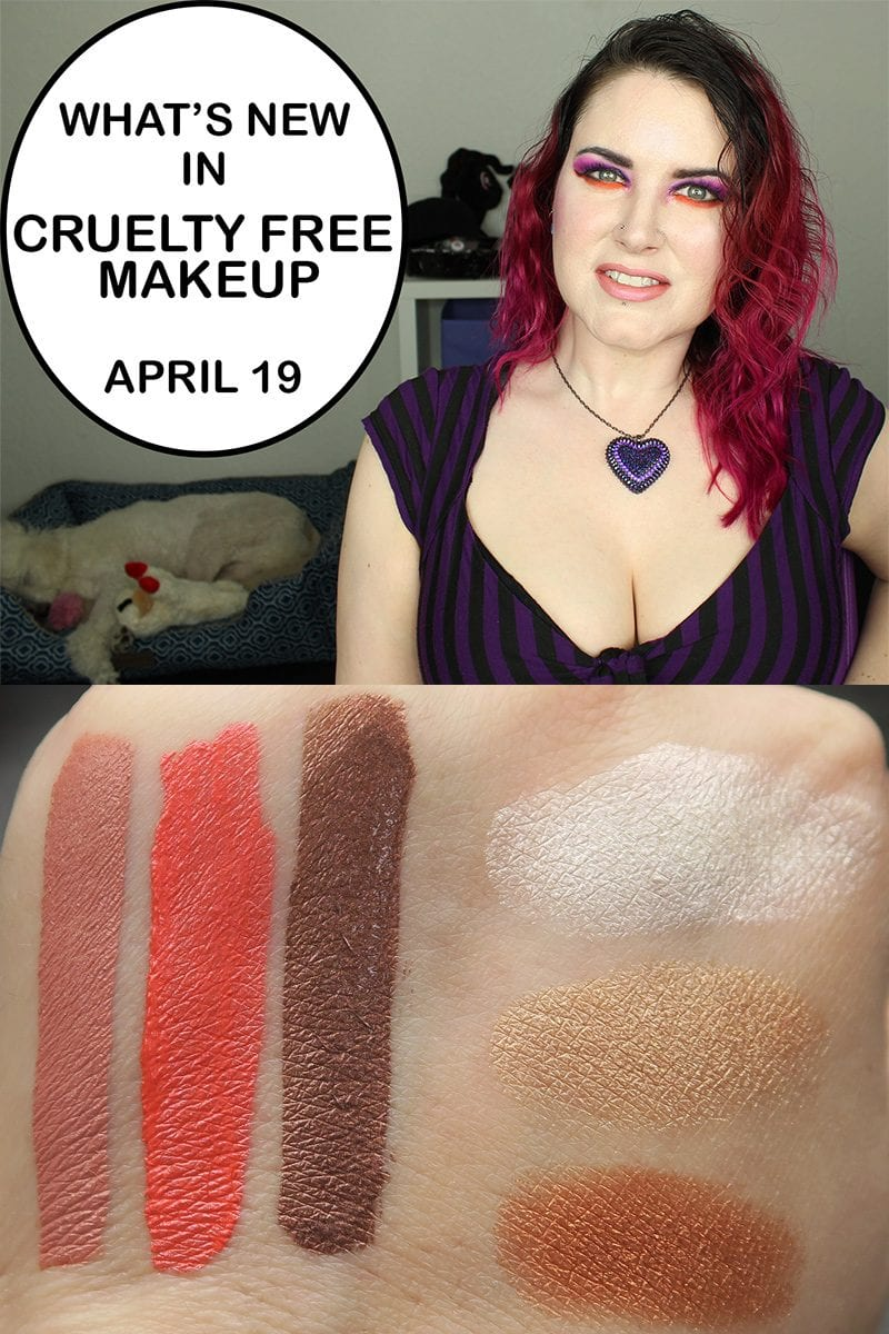 New video! Today I'm sharing What's New in Cruelty Free Makeup for April 19, 2017. I talk about new releases and upcoming releases. I also share swatches of the products I have with you too.
