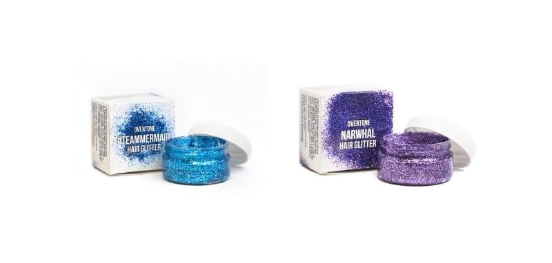 Overtone Hair Glitter for Magical Unicorn Makeup