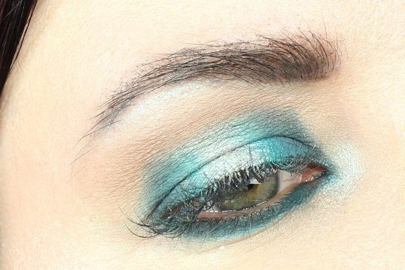 Hooded Eyes Teal Blue Halo Eye Makeup Tutorial