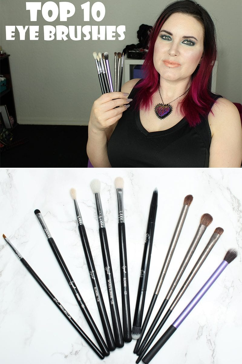 I made a short video to share my Top 10 Must Have Vegan Eye Brushes. In the video I discuss why these are my must have vegan eye brushes and how I use them. They're in my daily routine for hooded eyes. With hooded eyes like mine, I need a lot of small brushes that fit into my limited lid space. I think these brushes would also be good for monolid eyes as well.