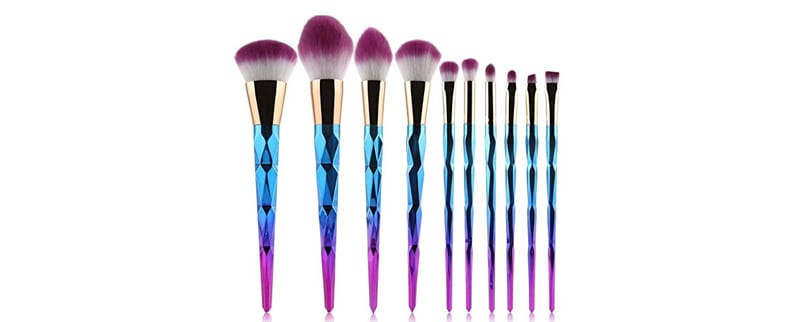 Coshine Unicorn Rainbow Makeup Brushes