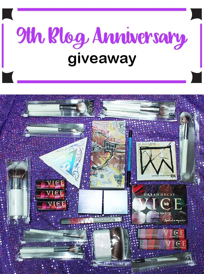 9th Blog Anniversary Giveaway