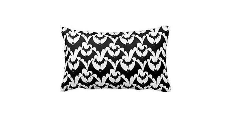 Bat Damask Pillow