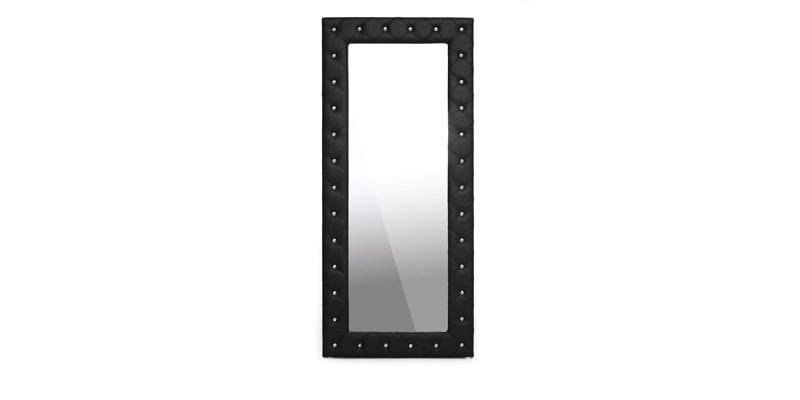 Black Tufted Mirror