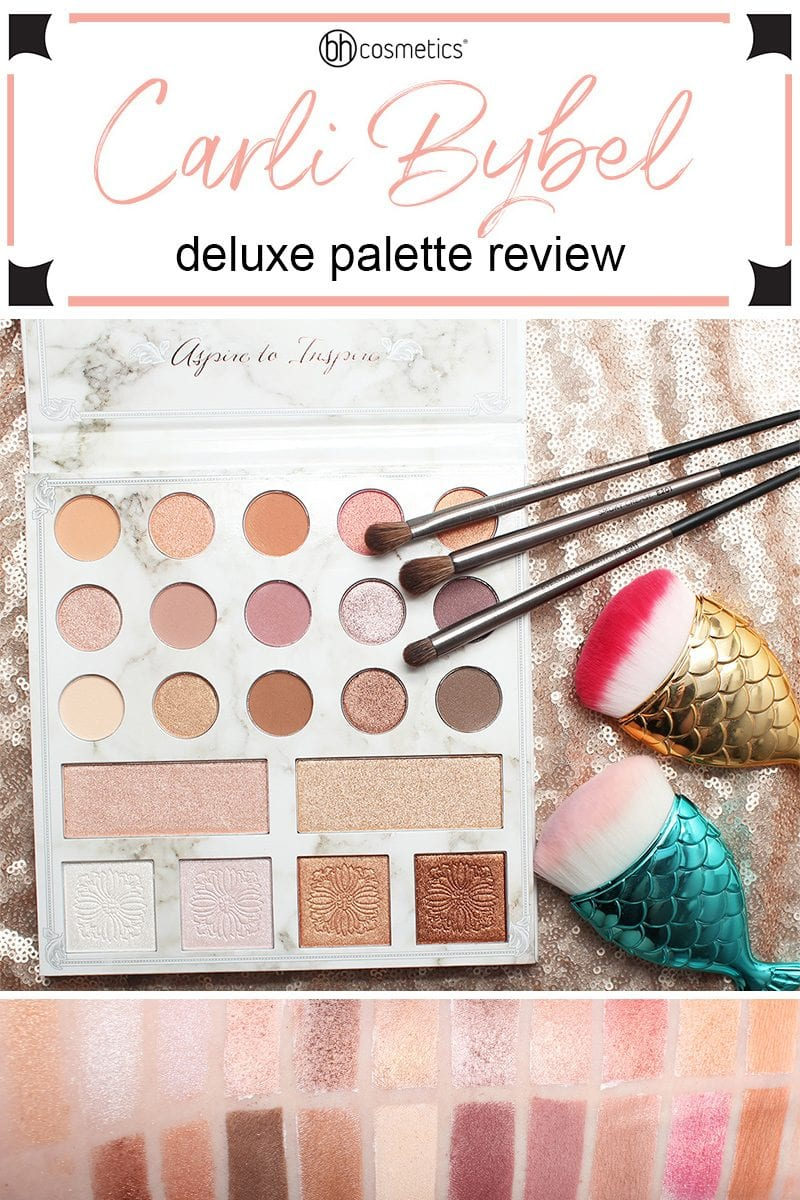 BH Cosmetics Carli Bybel Deluxe Palette Review, swatches & tutorials. It's a neutral palette with a duochrome twist! Affordable, gluten free, cruelty free, and vegan.
