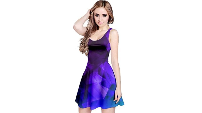 CowCow Purple and Dark Iridescent Dress