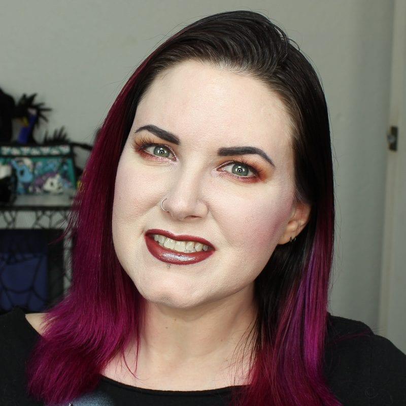 Wearing Urban Decay Epigram Lipstick