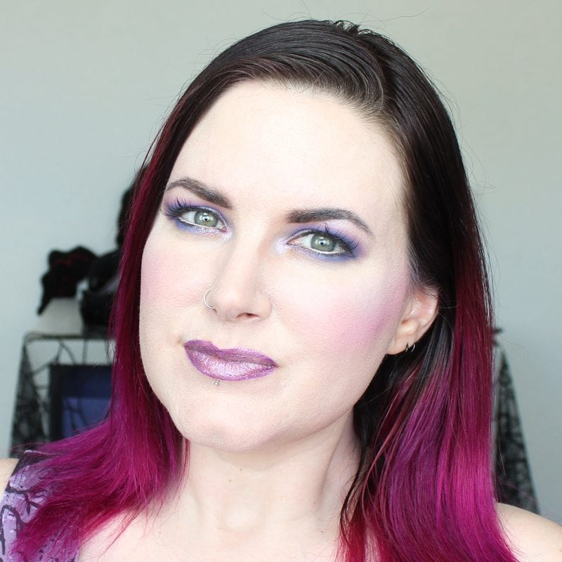 Wearing Kat Von D Roxy Pencil and House of Beauty Stephanie lipstick