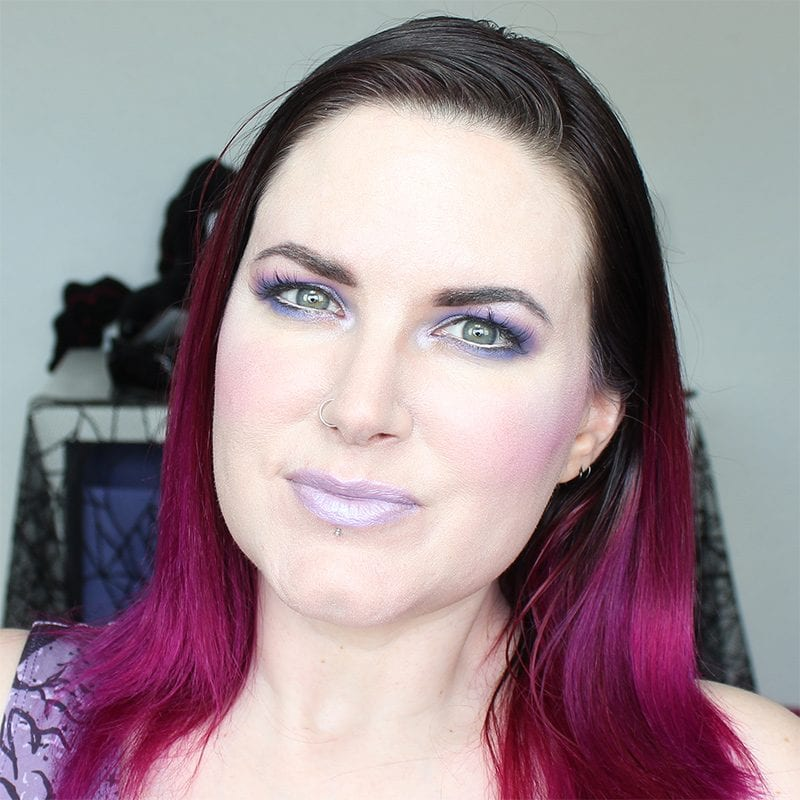 Wearing Kat Von D Coven pencil and House of Beauty Unicorn lipstick