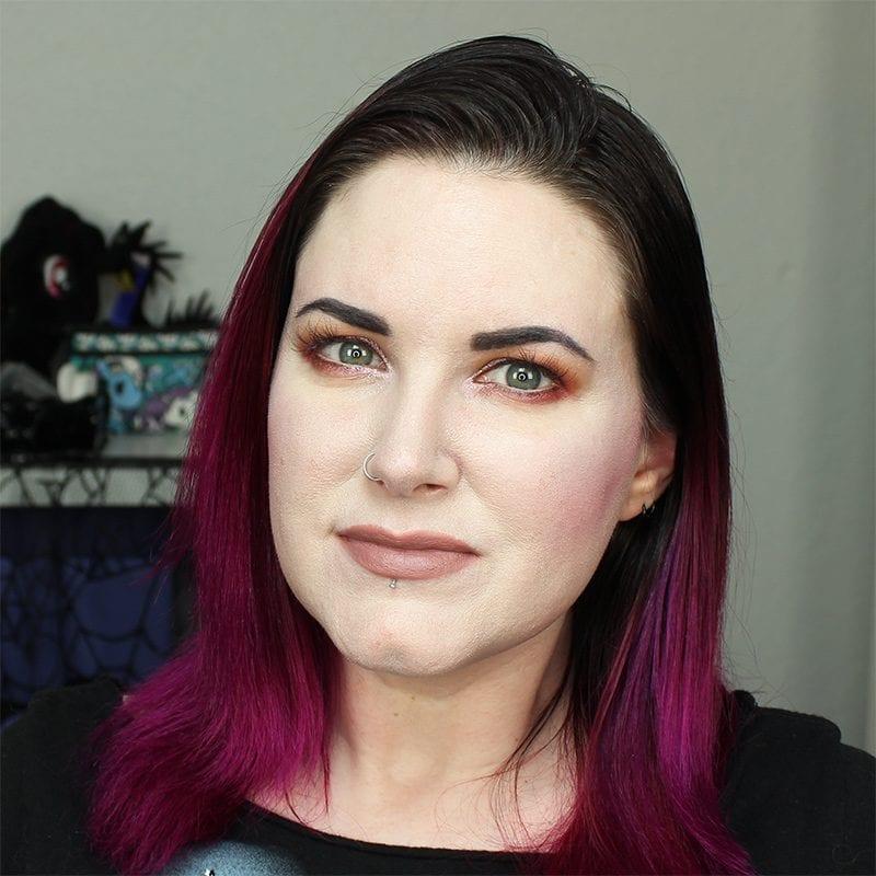 Wearing Urban Decay Oblivion Lipstick