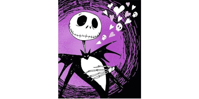 Purple Jack Skellington Throw