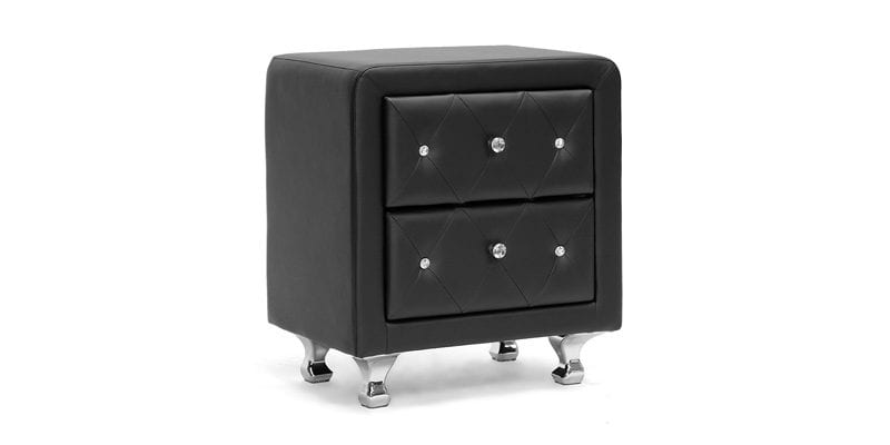 Black Tufted Nightstand