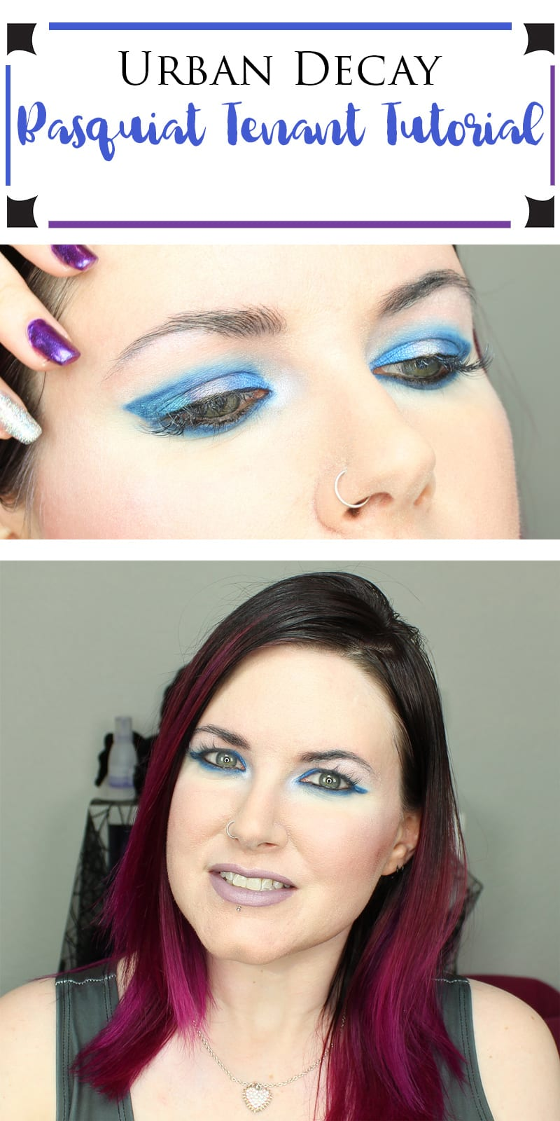 I created an Urban Decay Basquiat Tenant Tutorial featuring the Basquiat Tenant palette and the Kat Von D Alchemist palette.