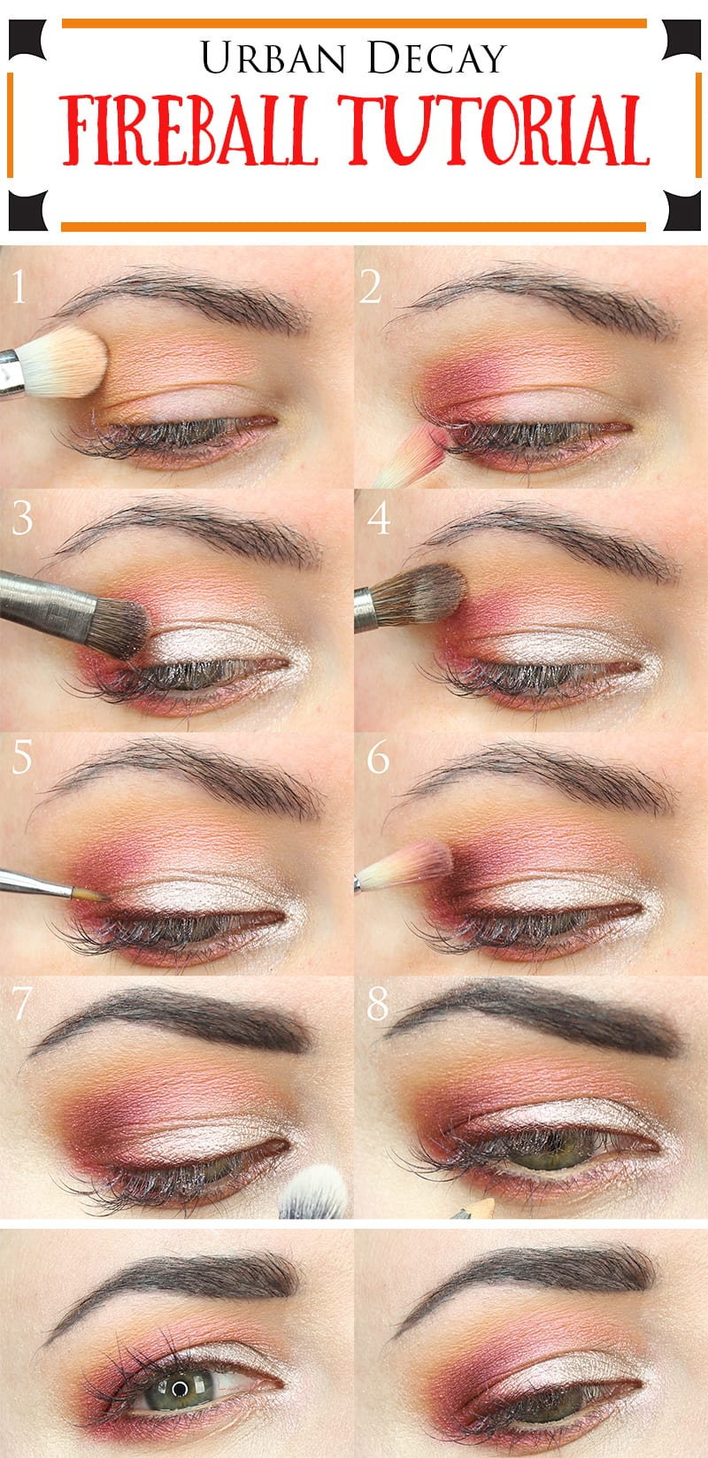 Urban Decay Fireball Tutorial Great For All Eye Shapes