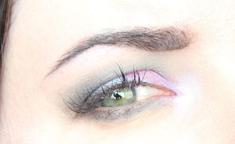 Wearing Darling Girl Unicorn Frappuccino, Kat Von D Pastel Goth and Urban Decay Gold Griot Eyeshadows