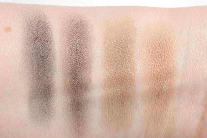 Urban Decay Brow Box Blackout and Blondie Swatches