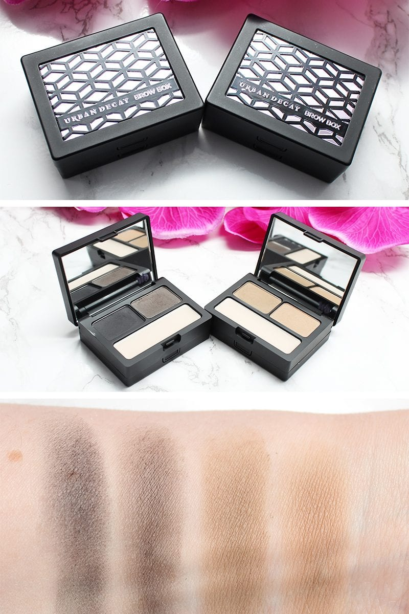 Urban Decay Brow Box Review. Blackout, a cool-toned black and granite duo perfect for dark hair. Blondie, a dark cool blonde and light cool blonde duo perfect for cool-toned blondes.