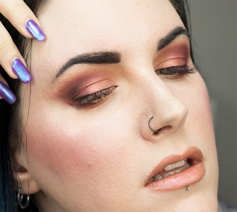 Wearing Urban Decay Deep Pencil and Alice Lipstick