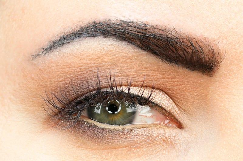 Flower Beauty Cool Natural Palette Eyeshadow Look