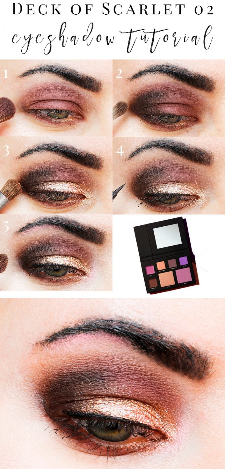 Deck of Scarlet Mauve Tutorial. Courtney used the Deck of Scarlet 02 Babsbeauty purple palette for this tutorial. Making Mauves is a sexy medium mauve matte. Great for a film noir look on its own or as a crease color.