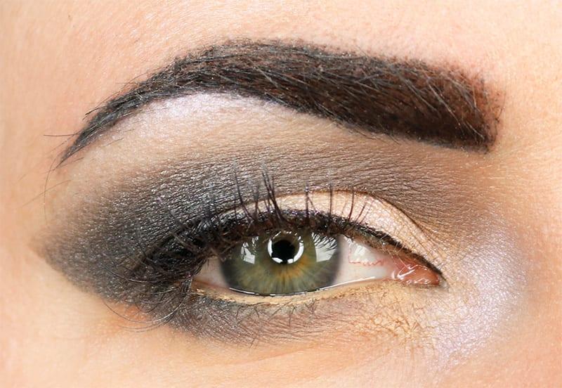 Makeup Geek Grey Eyeshadow Look