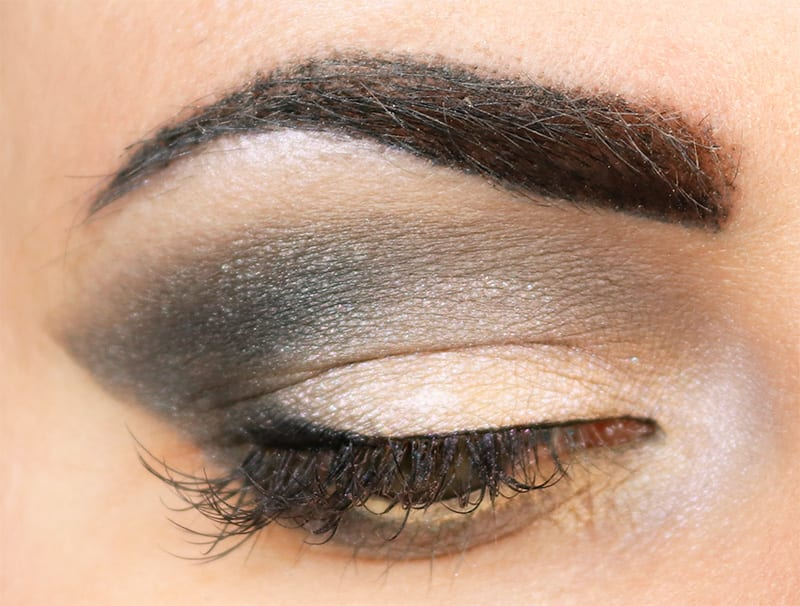 Makeup Geek Grey Eyeshadow Look