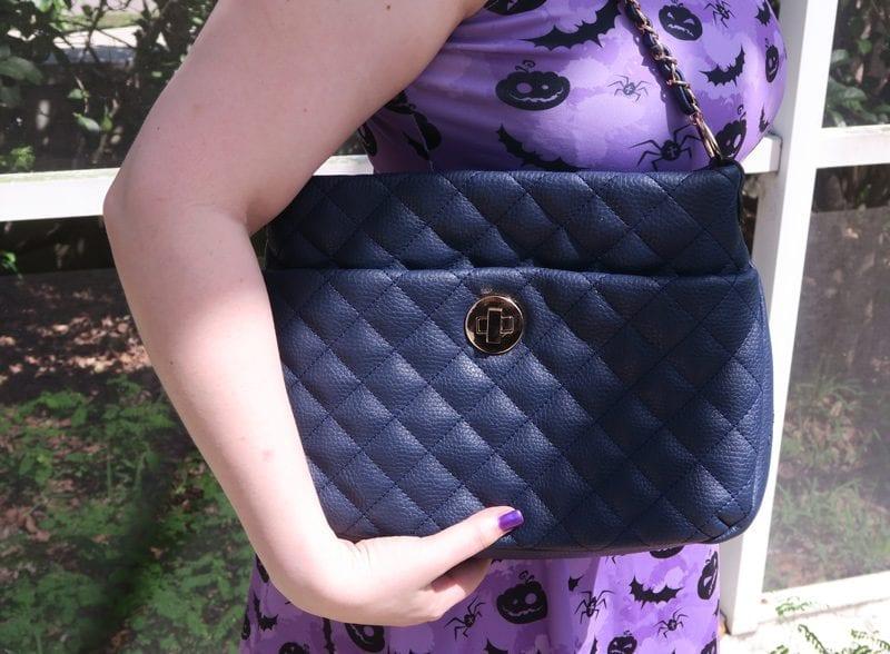 Gunas Koi Navy Blue Vegan Luxury Handbag