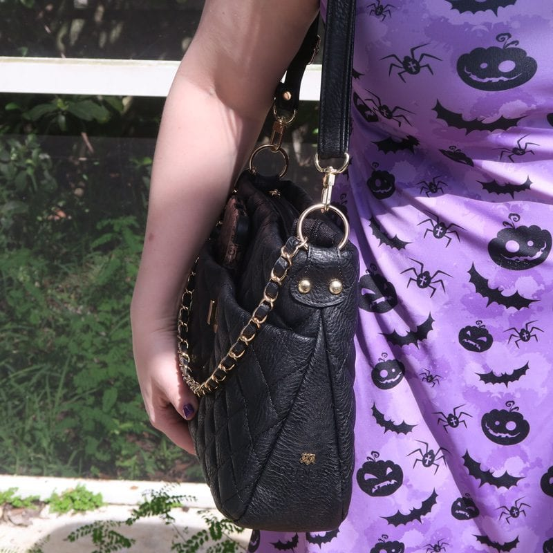 Gunas Koi Black Vegan Luxury Handbag