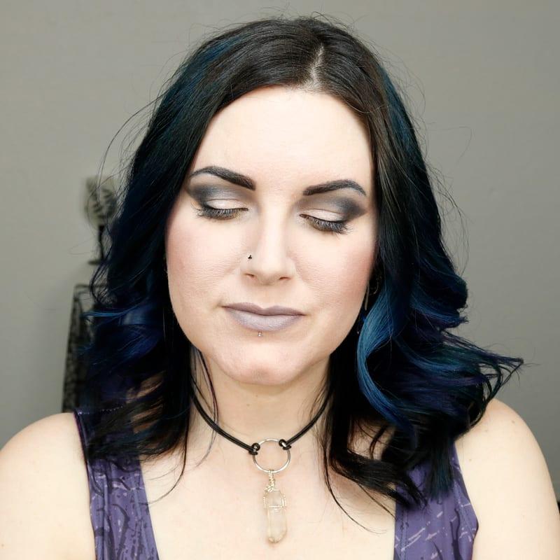 Kat Von D Zero Lipstick on Pale Skin