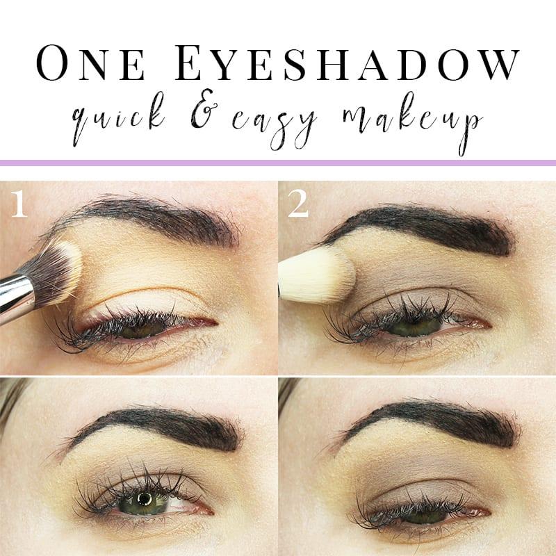 Cruelty-Free Makeup Tutorial   Kat Von D Smoke Quad Tutorial - Quick and Easy one eyeshadow tutorial