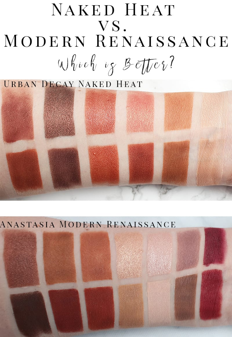 UD Naked Heat vs. ABH Modern Renaissance. Which is better? Which palette is right for you? This article answers that question!