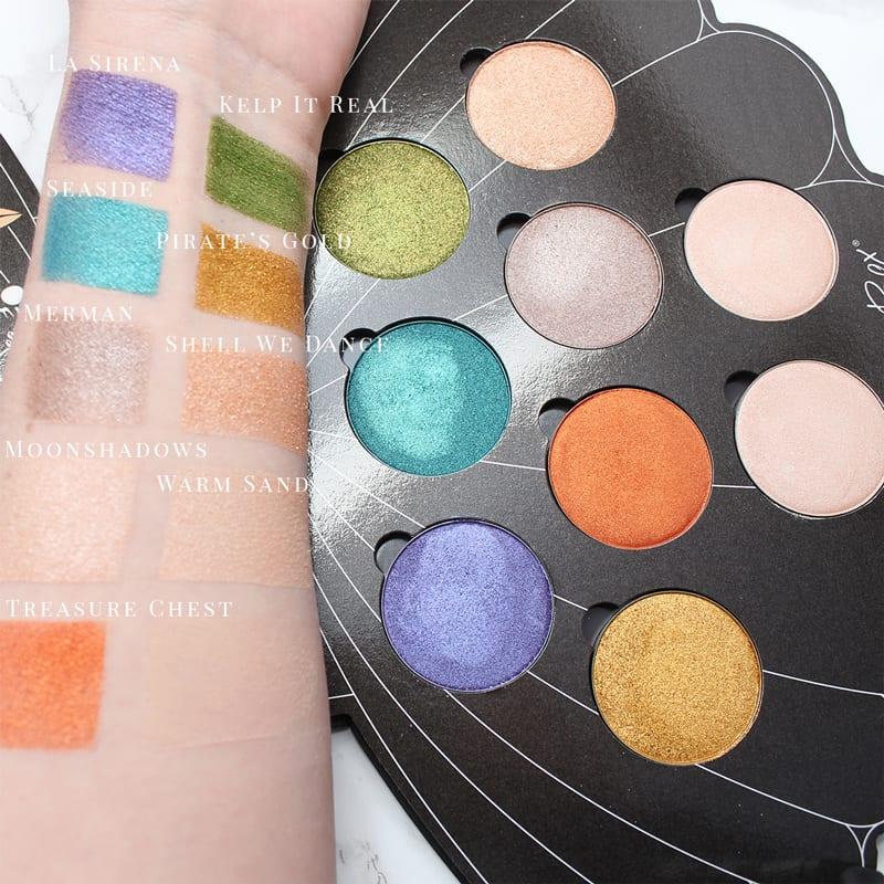 Saucebox Mermaid Life Eyeshadow Palette Swatches