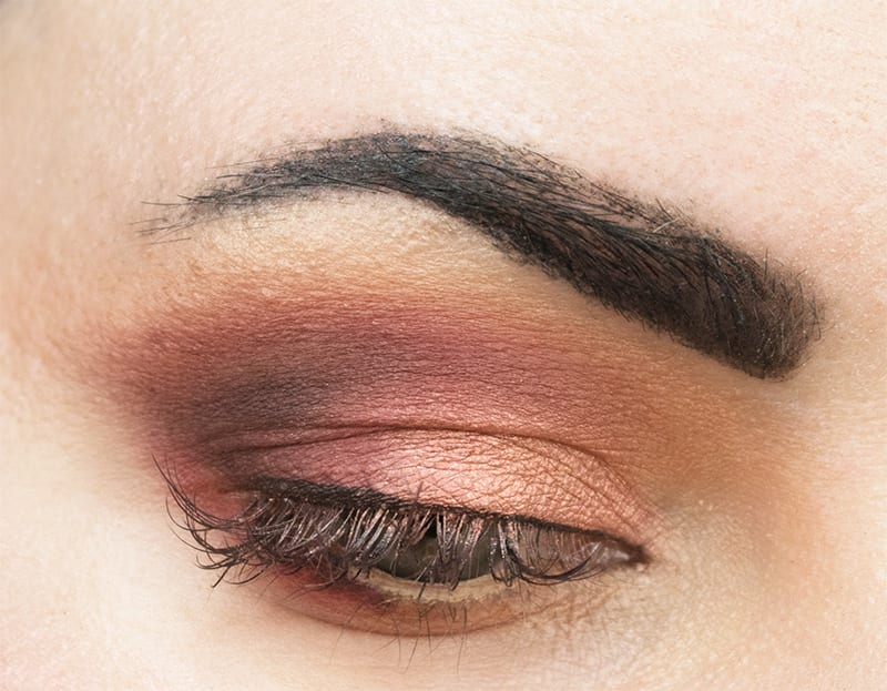 Urban Decay Naked Heat Palette on Pale Skin