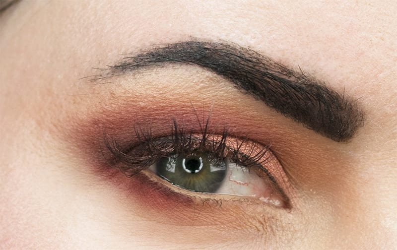 Urban Decay Naked Heat Palette on blue green eyes