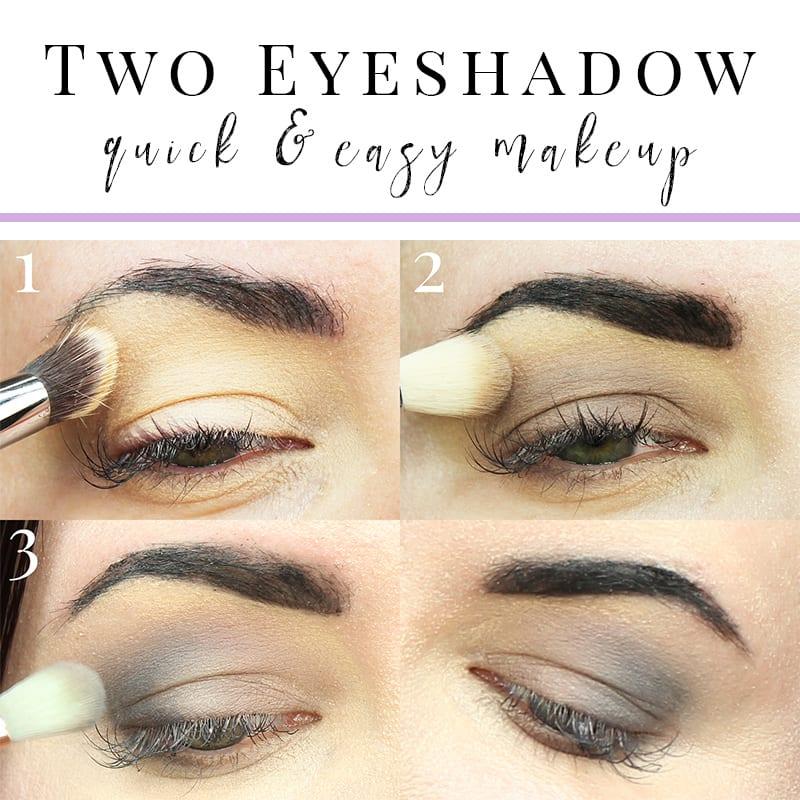Wearing the Kat Von D Smoke Quad Base Shade and Contour Shade, 2 eyeshadow tutorial