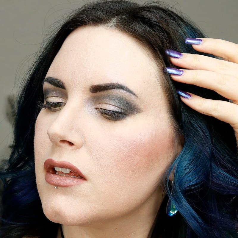 Urban Decay Oblivion Lipstick on Pale Skin
