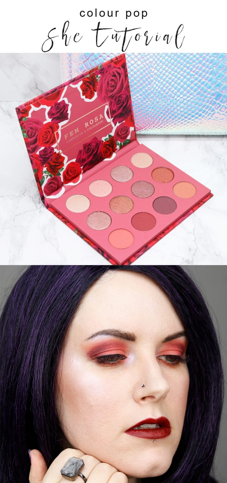 Colour Pop She Tutorial - I share 2 Colour Pop She palette tutorials, plus discuss the Ringly and Bellabeat Leaf Urban. They're both gorgeous pieces of wearable tech - one is like a smart watch, while the other is a health tracker.