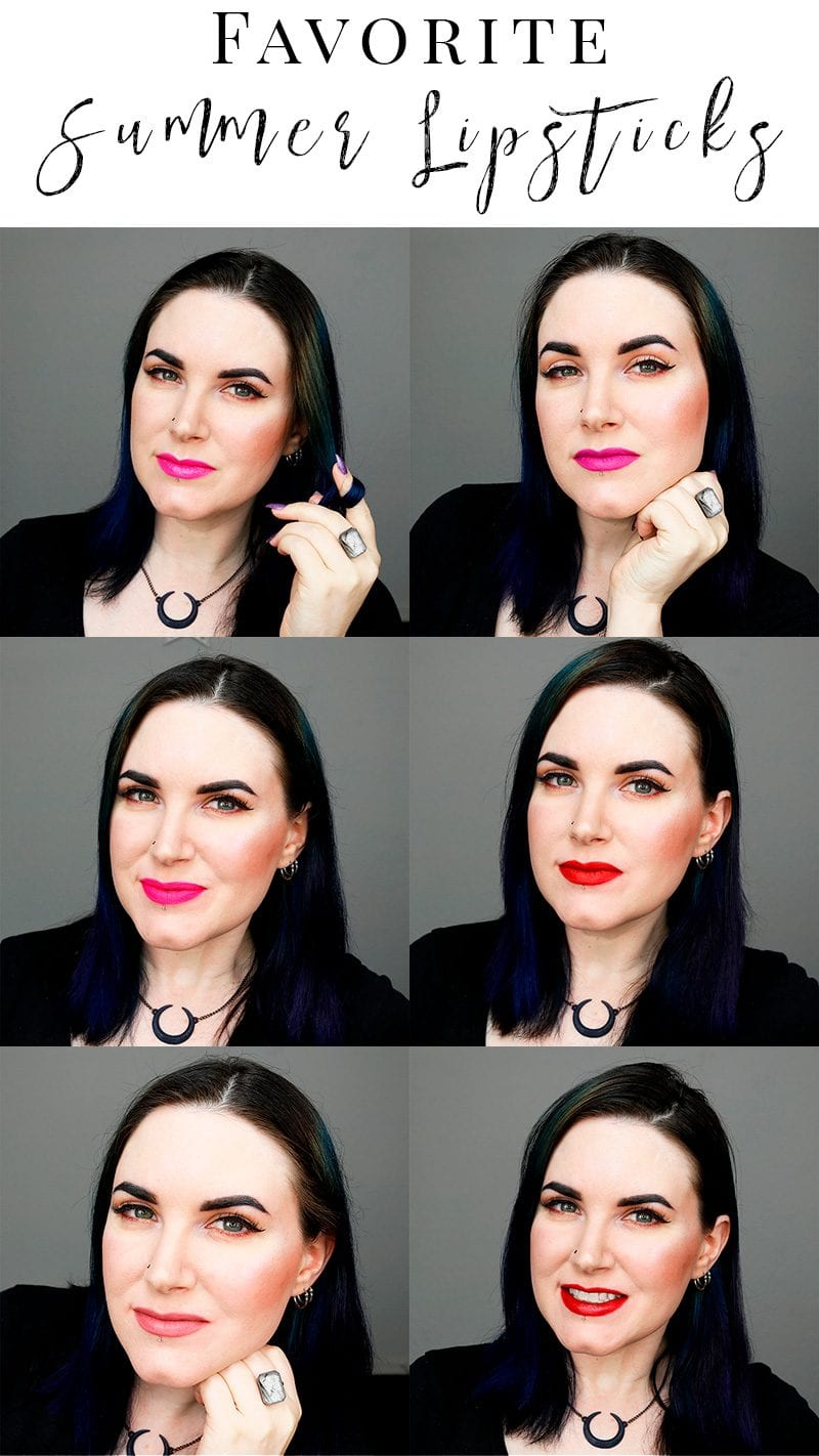 Favorite Summer Lipsticks. I'm sharing my top 9 favorite shades for summer. See me wearing all 9!
