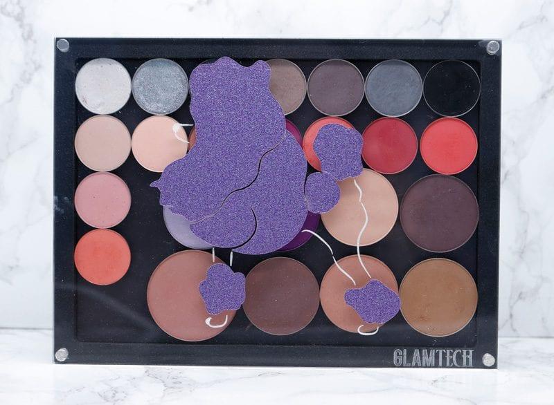 GlamTech Custom Glitter Poodle 35 Pan Palette