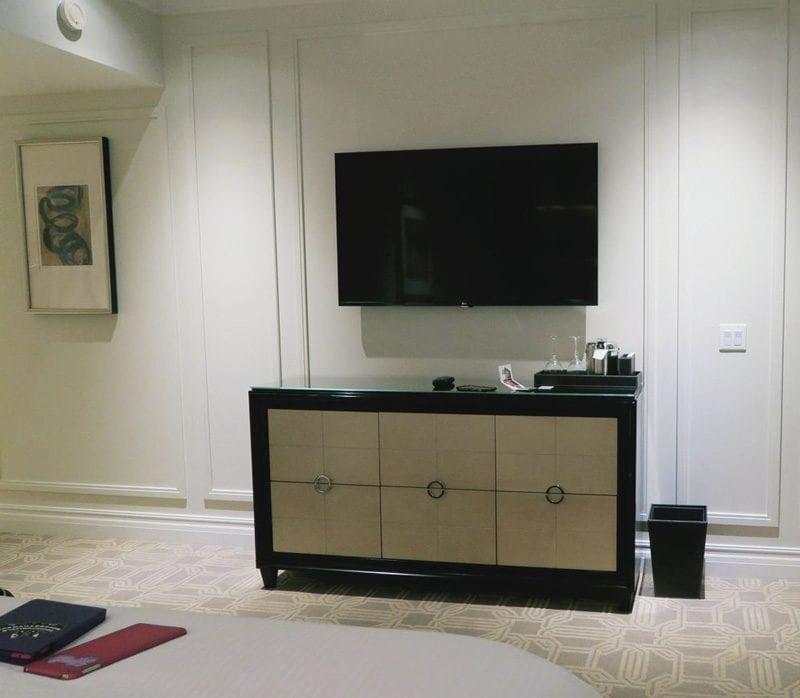 Palazzo Las Vegas King Suite Bedroom TV