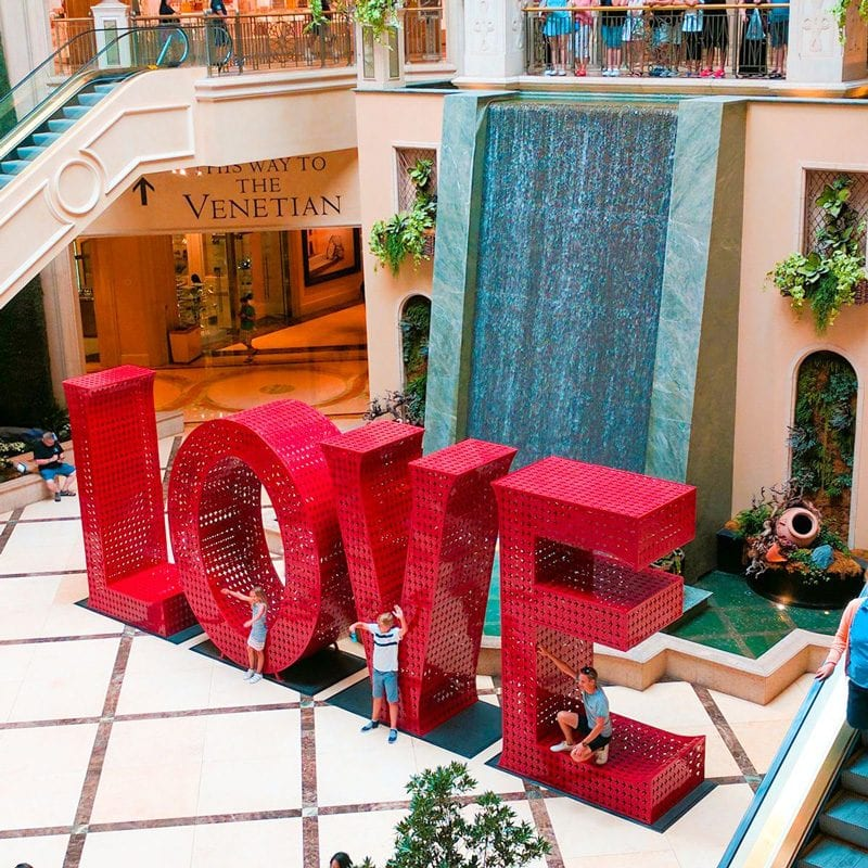 The Palazzo LOVE Art Sculpture
