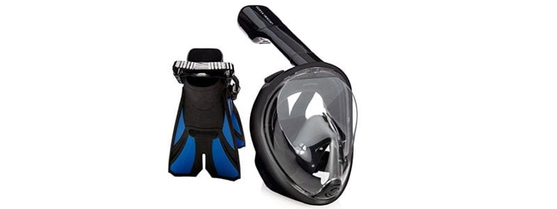 Snorkel Mask and Diving Fins